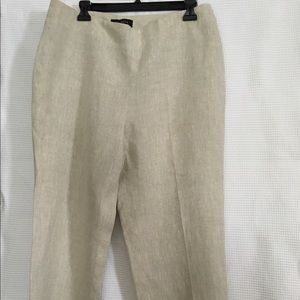 Talbots linen size 12 ankle length pant